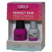 Orly Perfect Pair Matching Lacquer and Gel Duo Kit, Purple Crush