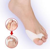HiiBaby®Unisex Gel Bunion Protectors Toe Separators Straighters Spreaders Corrector Bunion Cushion Pain Relief Foot Care & Thumb Valgus Protector & Bunion Adjuster