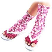 Pedisavers Toe Separator Pedicure Socks, Ruby Trooper