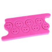 QINF 2PCS Pro Cotton Toe Separators Nail Art Tool