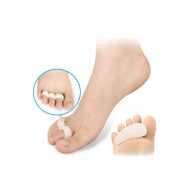 2 Pairs Silicone Gel Three Rings Hammer Overlapping Toe Separator Correction Straightener Feet Care