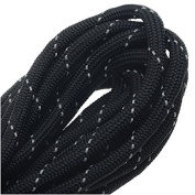 Paracord 550, Nylon Parachute Cord 4mm Thick, 4.9m, Reflective Black
