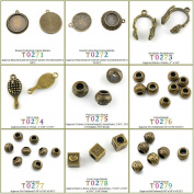 10 PCS Jewellery Making Charms Findings T0274 Hair Comb Jewellery Bronze Charme Supply Supplies Crafting Bracelet Wholesale Craft Alloys Lots Bulk Necklace Antique Retro DIY Vintage