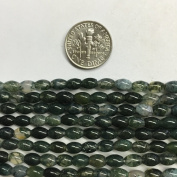 """4x6mm Oval Natural Gemstones Beads, 15.5"""""""