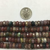 8mm Gemstone Faceted Rondell Beads, 15.5 Inch Jewellery Making Beads