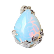 Iminibox 1pcs Natural Opal Vintage Reiki Healing Stone Charms Beads Drop Pendant for Necklace For Gift