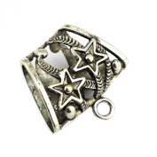 PendantScarf Alloy Metal Two Five-stars DIY Jewellery Scarf Tube Bails Slides