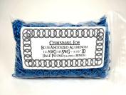 1/2 Pound Blue Anodized Aluminium Jump Rings 18G 0.5cm ID