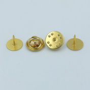 "50 PCS 10mm 3/8"" TIE Tacks Findings Pin Round Pinch Leather Leathercraft Pad Clutch Nickle Gold"