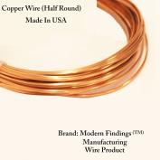 12 Ga Half Round Copper Wire 2.1m (Dead Soft) Coil
