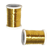 BEADING CRAFT WIRE 31 GAUGE BRASS 22m GOLD or SILVER SPOOL