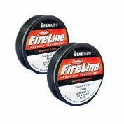 2 X FireLine Braided Bead Thread .20cm Smoke Grey