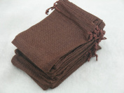 50pcs 9.3x13.5cm Rust Hemp/hessian Bags, Jewellery Pouches, Wedding Favours, Jewellery Packing, Gift Bags