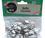 20 Count 1.9cm Silver Crafter's Square Craft Jingle Bells