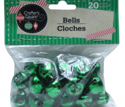 20 Count 1.9cm Green Crafter's Square Craft Jingle Bells