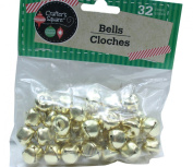 32 Count 1.3cm Gold Crafter's Square Craft Jingle Bells