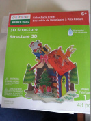 Creatology Holiday Foam Structure- 48 Pieces - Santa on Roof