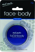 Mont Marte Premium Face and Body Paint 21g - Cosmetic Quality in Compact with Lid - Blue