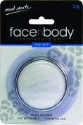 Mont Marte Premium Face and Body Paint 21g - Cosmetic Quality in Compact with Lid - White