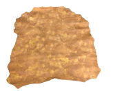 Light Brown Leather Hides Genuine Lambskin Material With Star Burst Finish FS705