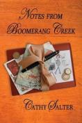 Notes from Boomerang Creek