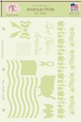 Fairytale Creations American Pride Stencil, 22cm L x 28cm H