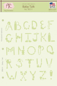 Fairytale Creations Baby Talk Alphabet Stencil, 22cm L X 28cm H