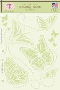 Fairytale Creations Butterfly Friends Stencil, 22cm L X 28cm H