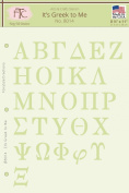 Fairytale Creations Greek Alphabet Stencil, 20cm - 1.3cm L x 28cm H