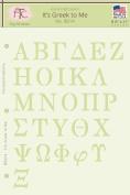 Fairytale Creations Greek Alphabet Stencil, 20cm - 1.3cm L x 28cm H