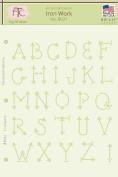Fairytale Creations Iron Work Alphabet Stencil, 20cm - 1.3cm L x 28cm H