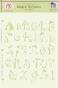 Fairytale Creations Magical Memories Alphabet Stencil, 20cm - 1.3cm L x 28cm H