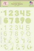 Fairytale Creations Number Basics Alphabet Stencil, 20cm - 1.3cm L x 28cm H