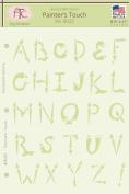 Fairytale Creations Painter's Touch Alphabet Stencil, 20cm - 1.3cm L x 28cm H