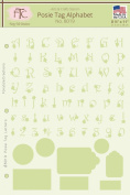 Fairytale Creations Posie Tag Alphabet & Numbers Stencil, 20cm - 1.3cm L x 28cm H