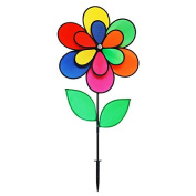 Gardener's Select 12 Petal Pin Wheel with Leaves, 46cm by 70cm