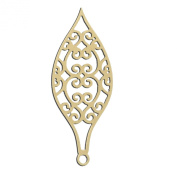 36cm Tall Filigree Christmas Holiday Ornament/Light Small Unfinished DIY Wood Craft To Sell Ready to Paint Wood Wooden Cutout