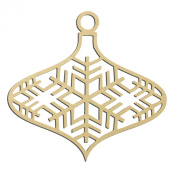 36cm Tall Snowflake Christmas Holiday Ornament Large Unfinished DIY Wood Craft To Sell Ready to Paint Wood Wooden Cutout