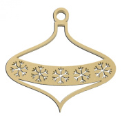 36cm Tall Snowflake Banner Christmas Holiday Ornament Large Unfinished DIY Wood Craft To Sell Ready to Paint Wood Wooden Cutout