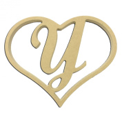 23cm Script Letter Y Insert for Home Heart Sign Unfinished DIY Wooden Craft Cutout to Sell Stacked