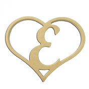 23cm Script Letter E Insert for Home Heart Sign Unfinished DIY Wooden Craft Cutout to Sell Stacked
