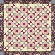 Easy Quilt Kit Chutes N Jacob's Ladder/Purple/Greys