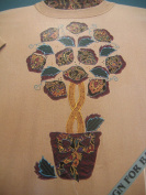 Topiary Tree Fabric Iron On Applique Kit 55107