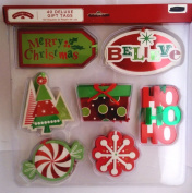 Holiday Time 40 Deluxe Foil Gift Tags ~ Merry Christmas, Believe, Ho, Ho, Ho