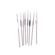 Riverbyland Silver Stainless Steel Crochet Hooks Knitting Kits For Beginners Set Of 8