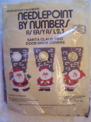 Santa Claus Trio Door Knob Covers Needlepoint Kit