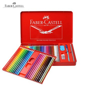 Faber Castell Watercolour Pencil 48 in Metal Box Set Best Coloured Pencil for Adult Colouring Book