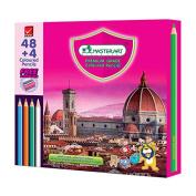 MASTERART Premium Grade coloured Pencils with Sharpner 48 Coloured