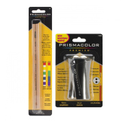 Prismacolor Premium Pencil Sharpener and Colourless Blenders, Bundle of 2 Coloured Pencil Accessories