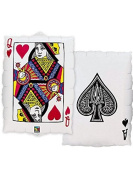 XL 80cm Queen of Hearts Ace of Spades Super Shape Mylar Foil Balloon Party